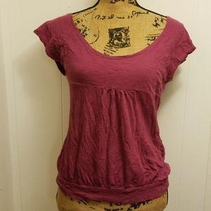 Purple/Pink scoop neck tee shirt top
